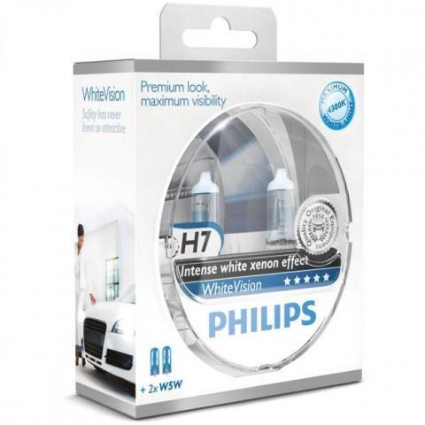 philips whitevision h7 autop rer giver din bil xenon look. Black Bedroom Furniture Sets. Home Design Ideas