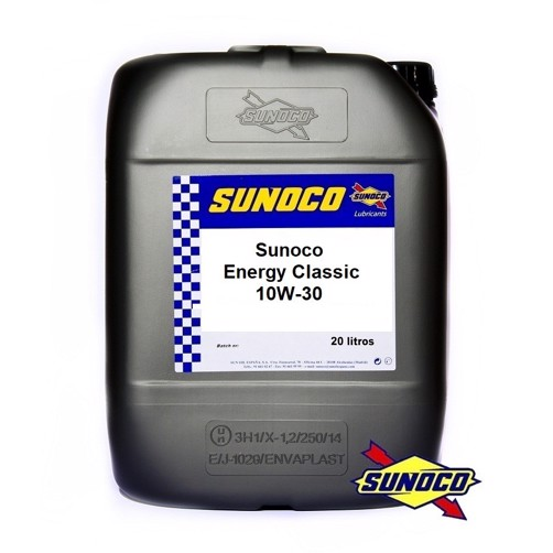 Sunoco Energy Classic 10W-30 - Højt Zinkindhold - 20 Liter