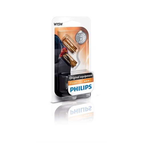 Philips WY5W Orange 12V 5Watt 2stk ( 2 stk )